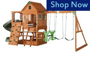 Adventure Playsets Patriot Wooden Swing Set
