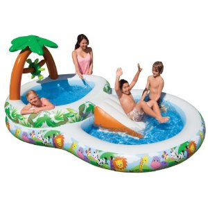 Intex Jungle Kids Swimming Pool With Slides Dinosaur Play Center