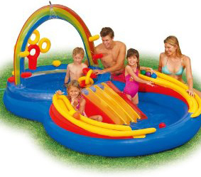 Intex Rainbow Ring Small Kids Pool