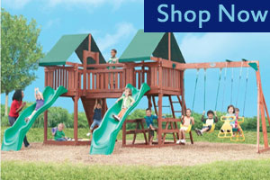 Swing Town Sequioa Wooden Swing Set