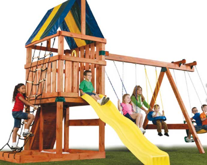 Wooden Playsets For Kids . The Alpine swing set kit. Good value for money. one of the cheapest around.