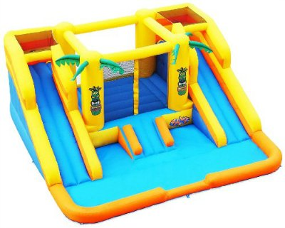 blast zone rainforest rapids inflatable bouncer with slide