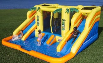 blast zone rainforest rapids inflatable water park