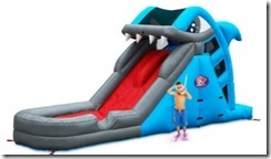 blast zone great white wild shark slide