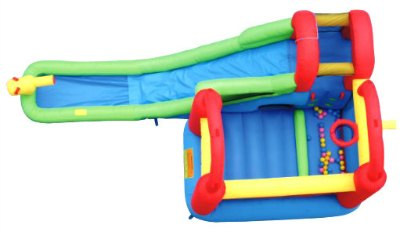 bounceland water slide with play station reviews