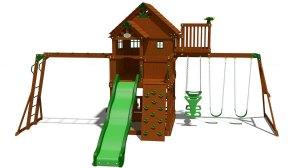skyfort ii cedar swing set