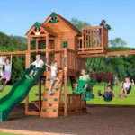 Leisure Time Skyfort ii Cedar Swing Set Playset With Slide