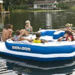 Large Floating Island Raft For The Lake – Fun Lake Holidays for The Whole Family