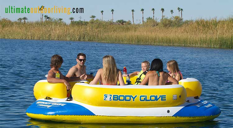 Body Glove 6 Person Lake Float And Lounge With Waterproof MP3 Player.