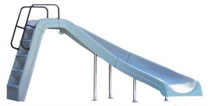 interfab inground pool water slide