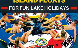 Have your own floating island at the lake with your own drinks in one of these large party island floats. Some of these party island floats can have up to 10 people! So get the party going.