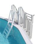 Heavy Duty Above Ground Pool Ladder With 400 lbs. Weight Limit