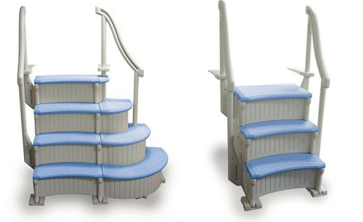 an affordable ground pool ladder strong and durable from confer - Above Ground Pool Outside Steps