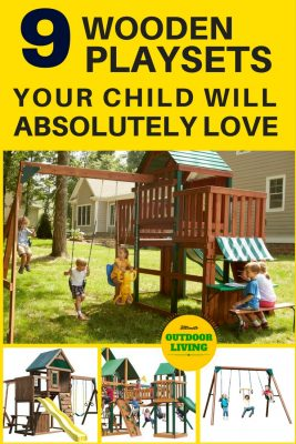 Your child will absolutely love one of these wooden playsets for kids.