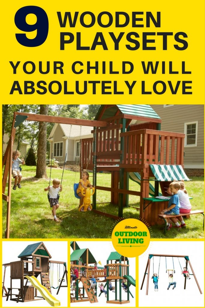 Your child will absolutely love one of these wooden playsets for kids. Choose if you have a small backyard or a big backyard. Or if you're budget is less than $500, you can see it here too.