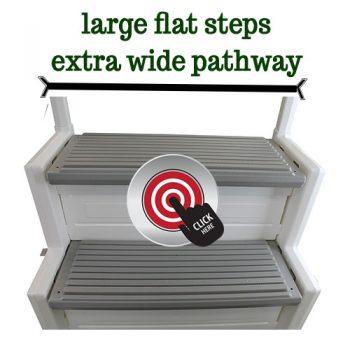 Large Flat Steps