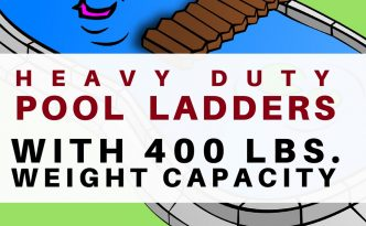 Strong durable above ground pool ladder with over 400 lbs capacity. We feature the best 400 lbs weight capacity pool ladder to be safe this summer!