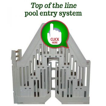 Best heavy duty above ground pool ladder with 400 lbs for Top of the line above ground pools