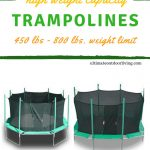 Heavy Duty Trampolines: 450 lb Weight Limit [And 500 – 600 lb. Limits Too!]