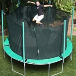 Circular trampoline: heavy duty virtually no maintenance. All weather trampoline