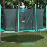 Rectagon Trampoline high weight capacity.