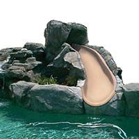 Bigride Pool Slide. Commercial grade slide with rocks.