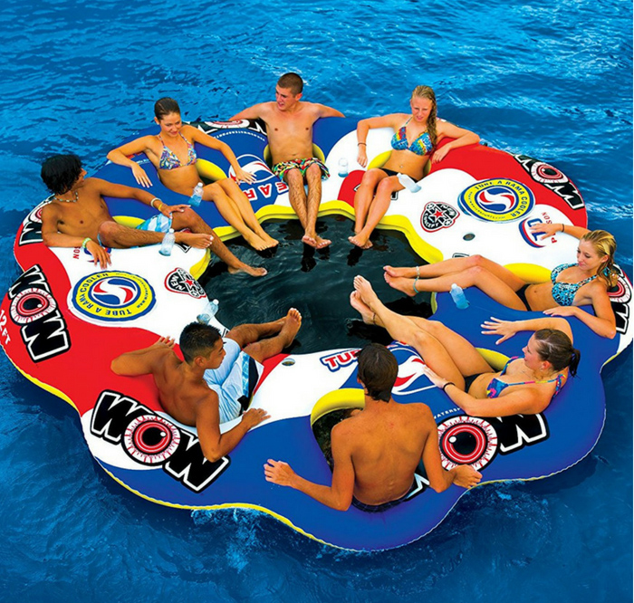 Tube A Rama Lake Raft For 8 adults.