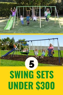 Budget Swing Sets Under $300 - Yes, these are some of the cheaper swing sets in the market but they've got so many activities in one that your children will have loads of fun with it. And that's what matters, right?